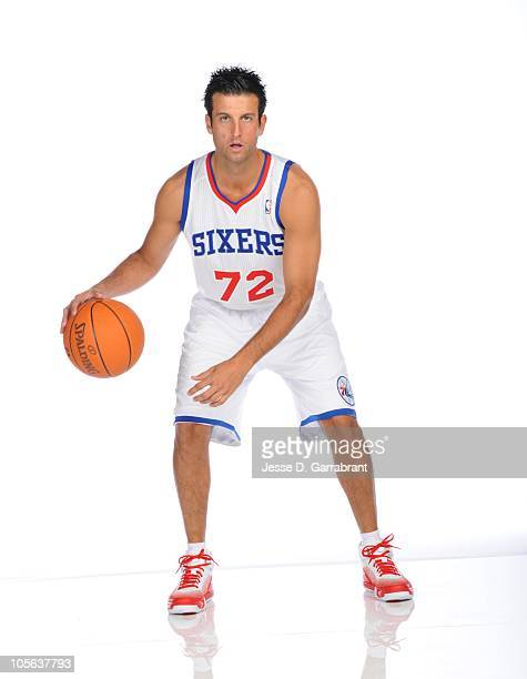 Jason Kapono of the Philadelphia 76ers poses for a photo during Media Day on September 27 2010 at the Wells Fargo Center in Philadelphia Pennsylvania...
