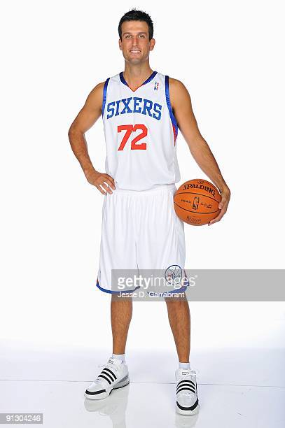 Jason Kapono of the Philadelphia 76ers poses for a portrait during 2009 NBA Media Day on September 28 2009 at Wachovia Center in Philadelphia...