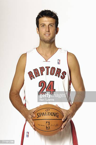 Jason Kapono of the Toronto Raptors poses for a portrait during NBA Media Day on September 28 2007 at the Air Canada Center in Toronto Canada NOTE TO...