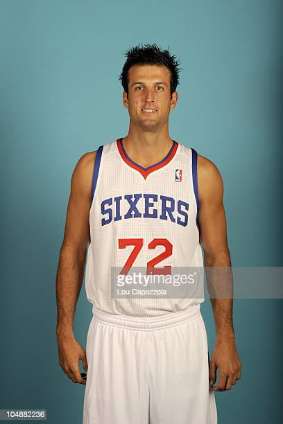 Jason Kapono poses for a photo during the Philadelphia 76ers media day on September 27 2010 at Wells Fargo Center in Philadelphia Pennsylvania NOTE...