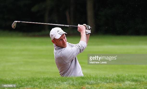 Jason Keene of Bramcote Waters Golf Course plays out of the bunker on the 3rd hole during the Virgin Atlantic PGA National ProAm Championship Midland...