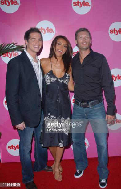 Jason Kennedy, Giuliana Depandi and Ryan Seacrest during E! and STYLE Networks' TCA Summer Press Tour - July 11, 2006 at Ritz Carlton in Pasadena,...
