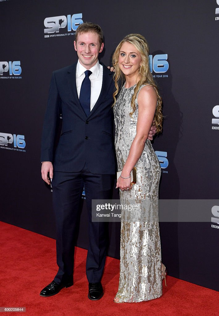 Jason Kenny and Laura Kenny attend the BBC Sports Personality Of The Year at Resorts World on December 18, 2016 in Birmingham, United Kingdom.