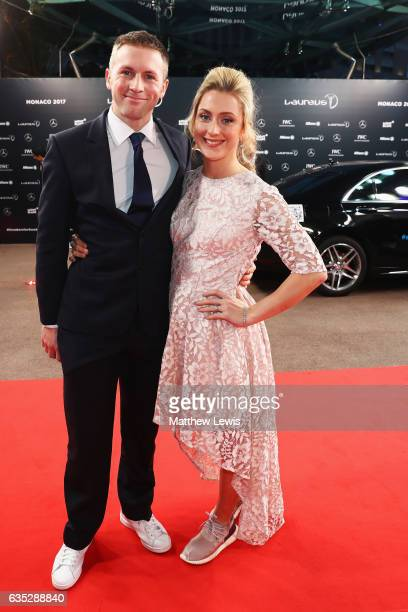 Jason Kenny and wife Laureus World Sportswoman of the Year nominee Cyclist Laura Kenny of Great Britain attend the 2017 Laureus World Sports Awards...