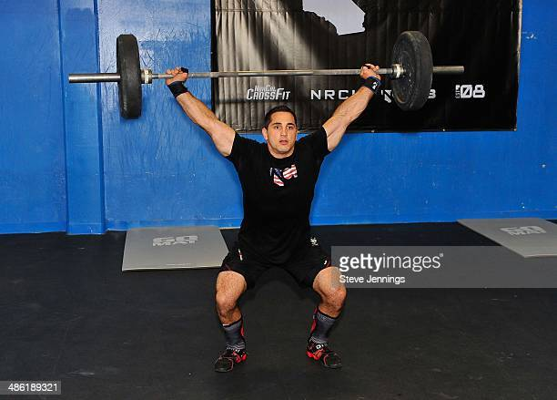 Jason Khalipa a Gillette BODY Ambassador and CrossFit Champion shows off his strength at Gillette's ultimate #BODYREADY training day at NorCal...