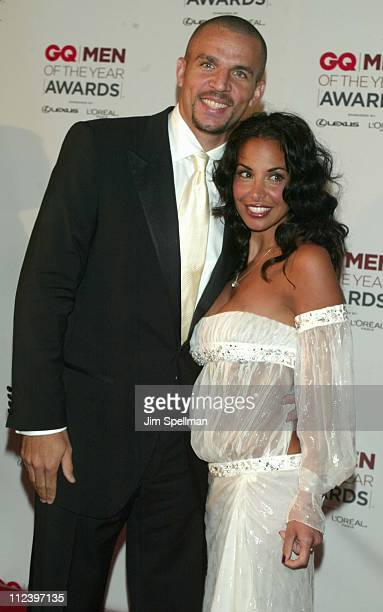 Jason Kidd and wife Joumana Kidd during 2002 GQ Men of the Year Awards Arrivals at Hammerstein Ballroom in New York City New York United States