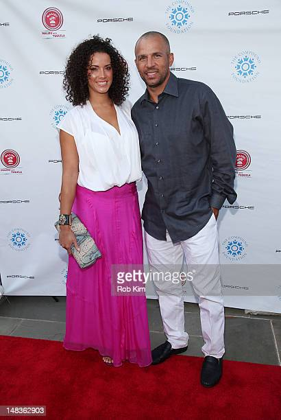 Jason Kidd and wife Porschla Coleman attend the 2012 Compound Foundation Fostering A Legacy Benefit on July 14, 2012 in East Hampton, New York.