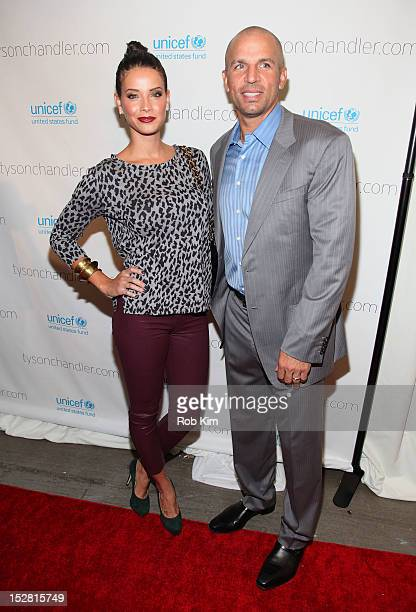 """Jason Kidd and wife Porschla Coleman attend the """"A Year In A New York Minute"""" photo exhibition opening at Canoe Studios on September 26, 2012 in New..."""
