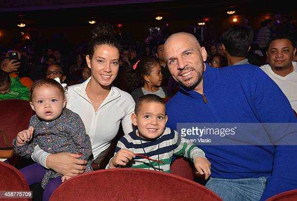Jason Kidd and wife Porschla Coleman with their children attend Yo Gabba Gabba Live at The Beacon Theatre on December 21 2013 in New York City