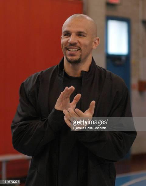 Jason Kidd during Jason Kidd Hosts The Jordan Basketball Clinic at The Children's Aid Society at Children's Aid Society Dunlevy Milbank in New York...