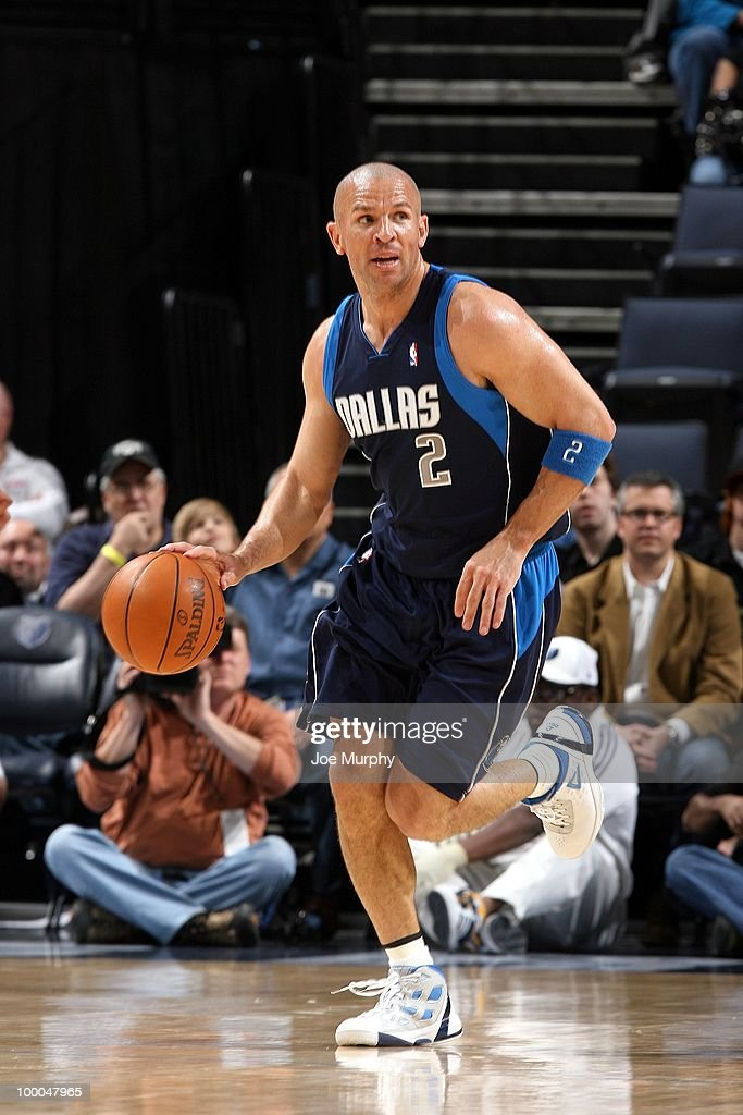Jason Kidd #2 of the Dallas Mavericks drives the ball up court during the game against the Memphis Grizzlies at the FedExForum on March 31, 2010 in Memphis, Tennessee. The Mavs won 106-102.