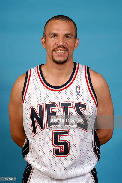 Jason Kidd of the New Jersey Nets poses for a portrait during the Nets Media Day on September 30 2002 at Continental Airlines Arena in East...