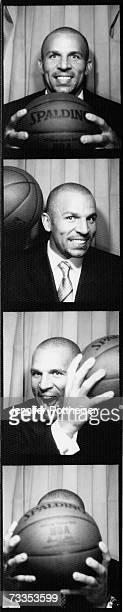 Jason Kidd of the New Jersey Nets poses for a portrait in a photo booth during All Star Media Availability on February 16 2007 at The Palms Resort...