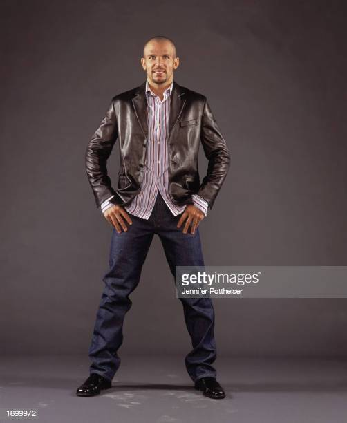 Jason Kidd of the New Jersey Nets poses for a portrait on October 1 2002 in East Rutherford New Jersey NOTE TO USER User expressly acknowledges and...