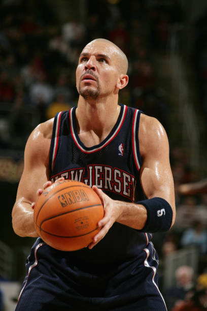 26aeba66d Jason Kidd  5 of the New Jersey Nets prepares to shoot a free throw during