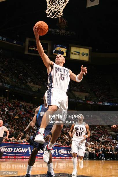 Jason Kidd of the New Jersey Nets shoots against the Dallas Mavericks on December 5 2006 at Continental Airlines Arena in East Rutherford New Jersey...