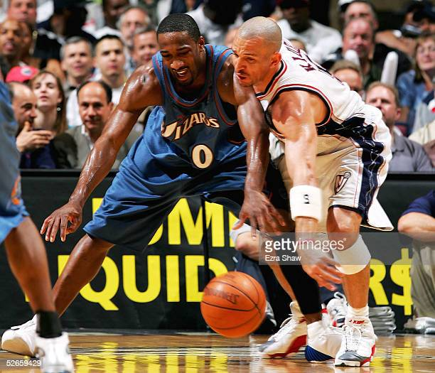 Jason Kidd of the New Jersey Nets steals the ball from Gilbert Arenas of  the Washington 62a680bba