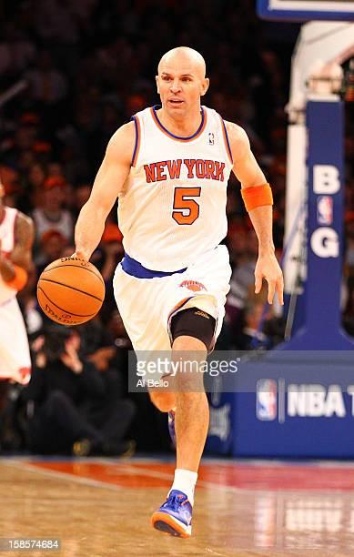 13b5de9b3 Jason Kidd of the New York Knicks brings the ball up court against the  Brooklyn Nets