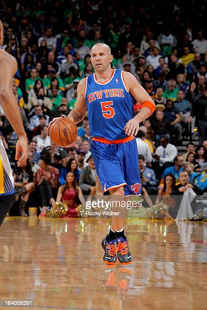 a30617975 Jason Kidd of the New York Knicks brings the ball up the court against the  Golden