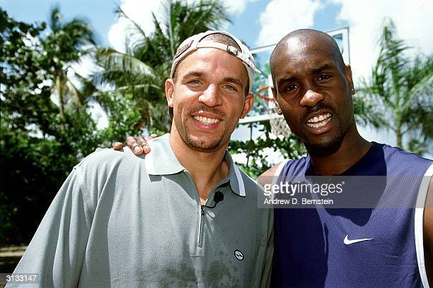 Jason Kidd of the Phoenix Suns and Gary Payton of the Seattle Sonics pose for a photo circa 1999 NOTE TO USER User expressly acknowledges and agrees...