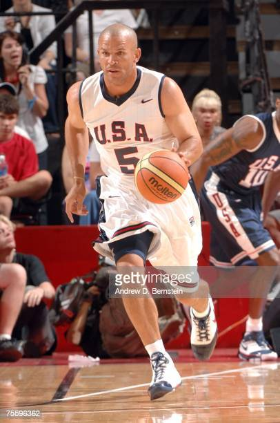 Jason Kidd of the USA Basketball Men's Senior National Team during the State Farm Basketball Challenge Blue vs White game on July 22 2007 at the...