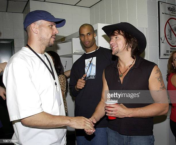 Jason Kidd point guard for the New Jersey Nets Richard Jefferson small forward for the New Jersey Nets and Richie Sambora