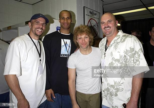 Jason Kidd point guard for the New Jersey Nets Richard Jefferson small forward for the New Jersey Nets Jon Bon Jovi and David Wells starting pitcher...