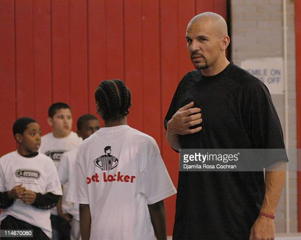 Jason Kidd with children during Jason Kidd Hosts The Jordan Basketball Clinic at The Children's Aid Society at Children's Aid Society Dunlevy Milbank...
