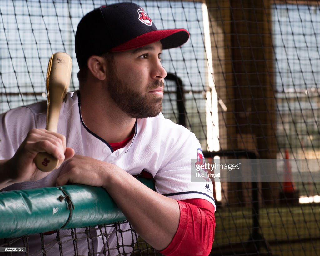 Jason Kipnis of the Cleveland Indians poses for a portrait at the Cleveland Indians Player Development Complex on February 21, 2018 in Goodyear, Arizona.