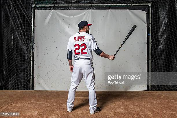 Jason Kipnis of the Cleveland Indians poses for a portrait during photo day at the Cleveland Indians Development Complex on February 27 2016 in...