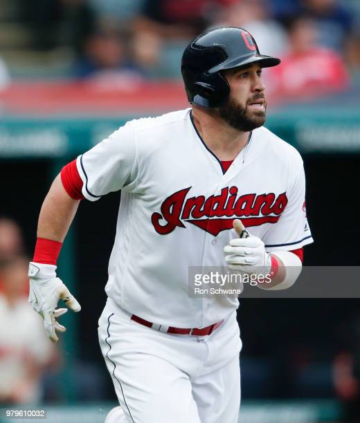 Jason Kipnis of the Cleveland Indians rounds the bases after hitting a three run home run off Bruce Rondon of the Chicago White Sox during the sixth...