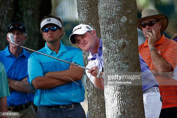 Jason Kokrak plays a shot on the 16th hole during the final round of the Valspar Championship at Innisbrook Resort and Golf Club on March 16, 2014 in...