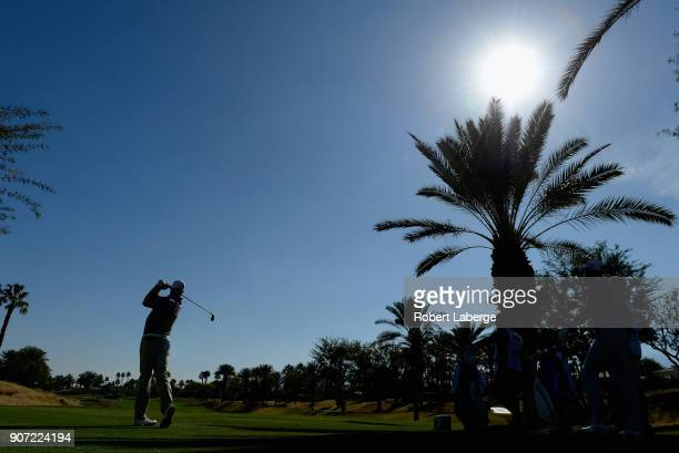 Jason Kokrak plays his shot from the tenth tee during the second round of the CareerBuilder Challenge at the Jack Nicklaus Tournament Course at PGA...