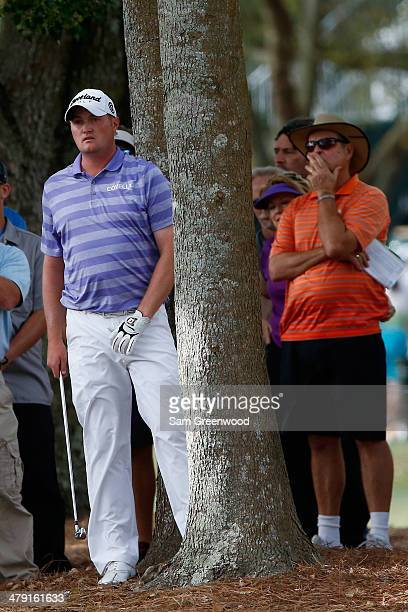 Jason Kokrak watches his shot on the 16th hole during the final round of the Valspar Championship at Innisbrook Resort and Golf Club on March 16 2014...