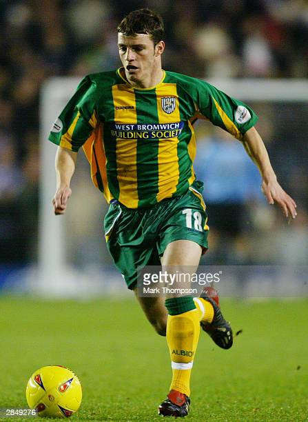 Jason Koumas of West Bromwich Albion makes a break forward during the Nationwide League Division One match between Wimbledon and West Bromwich Albion...