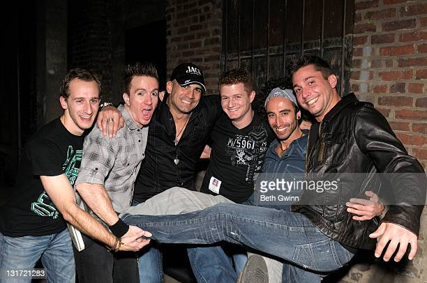 Jason Krebs Dave Crum Scott DeCarlo Chris Tsaganeas Paul De Corral and Bobby Fuchs of the Scott DeCarlo Six attends the Let Us In Women and Cancer...