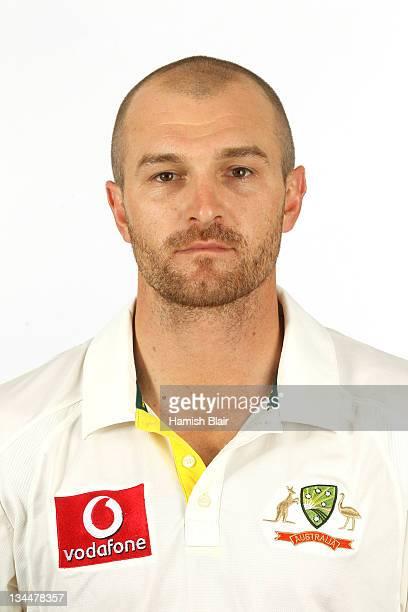 Jason Krejza poses for a portrait during the official Australian Test cricket team headshots session on November 28 2011 in Brisbane Australia