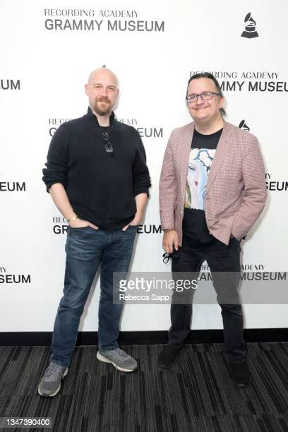 Jason Kruppa and Kenneth Womack attend All Things Must Pass Away: Harrison, Clapton, and Other Assorted Love Songs at The GRAMMY Museum on October...
