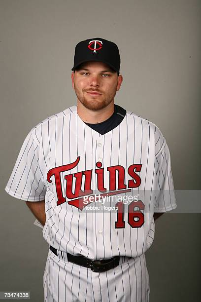 Jason Kubel of the Minnesota Twins poses during photo day at Hammond Stadium on February 26 2007 in Ft Myers Florida