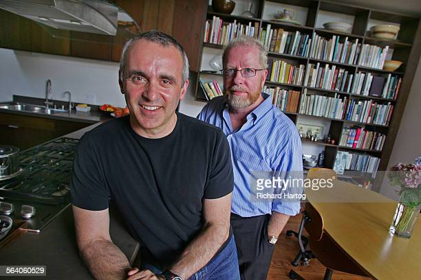 Jason La Padura left and Gary Murphy in the kitchen of their home Friday in Santa Monica July 28 2006 It's about living small The 1000 square foot...