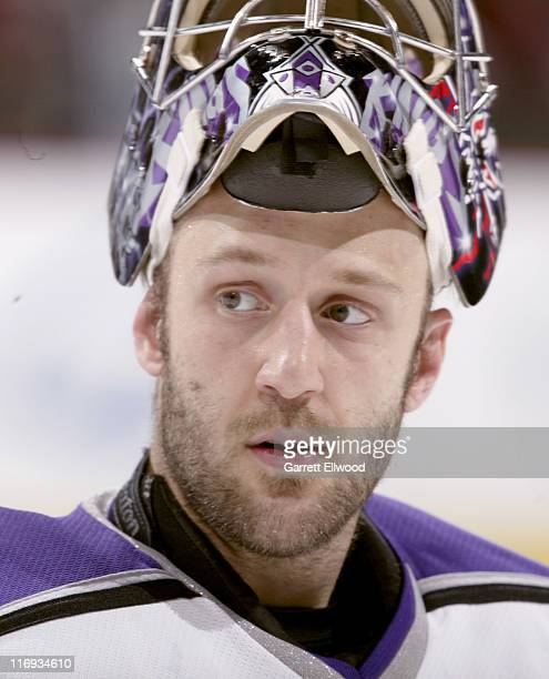 Jason LaBarbera of the Los Angeles Kings during the game against the Colorado Avalanche on December 28, 2005 at Pepsi Center in Denver, Colorado.
