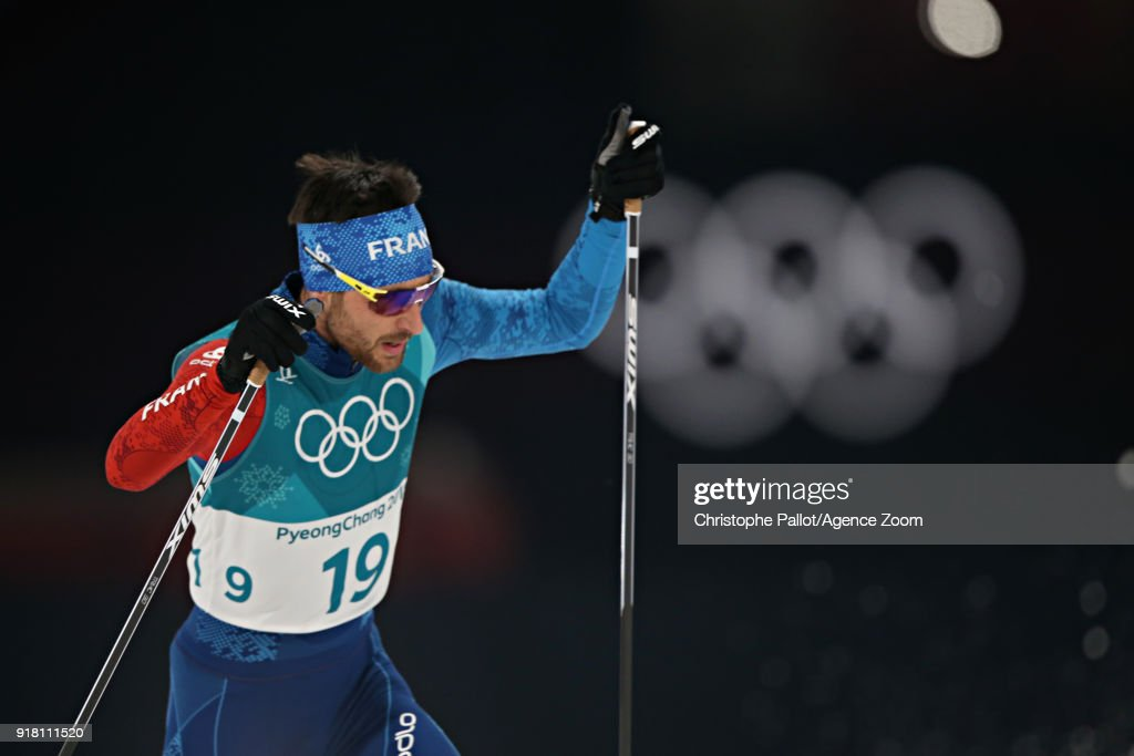 Jason Lamy Chappuis of France in action during the Nordic Combined Normal Hill/10km at Alpensia Cross-Country Centre on February 14, 2018 in Pyeongchang-gun, South Korea.
