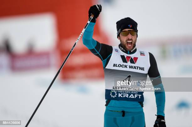 Jason Lamy Chappuis of France takes 3rd place during the FIS Nordic World Cup Men's and Women's Nordic Combined HS100/Team on December 2 2017 in...