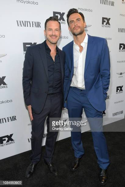 Jason Landau and Cheyenne Jackson attend FX Networks celebration of their Emmy nominees in partnership with Vanity Fair at Craft on September 16 2018...