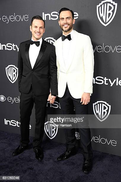 Jason Landau and Cheyenne Jackson attend the 18th Annual PostGolden Globes Party hosted by Warner Bros Pictures and InStyle at The Beverly Hilton...