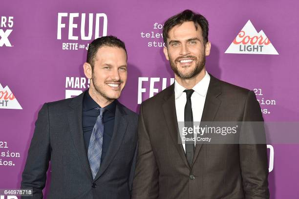 Jason Landau and Cheyenne Jackson attend the Premiere of FX Network's 'Feud Bette And Joan' Arrivals at Grauman's Chinese Theatre on March 1 2017 in...