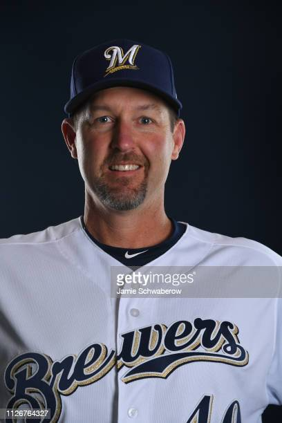 Jason Lane of the Milwaukee Brewers poses during the Brewers Photo Day on February 22 2019 in Maryvale Arizona
