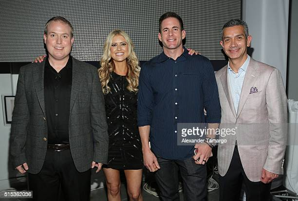 Jason Langford Christina El Moussa Tarek El Moussa of HGTV's 'Flip or Flop' new North American brand ambassadors and Jamie Diaz attend the TREND...