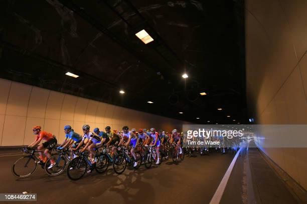 Jason Lea of Australia and Team UniSAAustralia Polka Dot Mountain Jersey / Peloton / Landscape / Tunnel / during the 21st Santos Tour Down Under 2019...