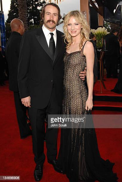 Jason Lee and Beth Riesgraf 12864_JS_0127jpg during TNT/TBS Broadcasts 13th Annual Screen Actors Guild Awards Red Carpet at Shrine Auditorium in Los...